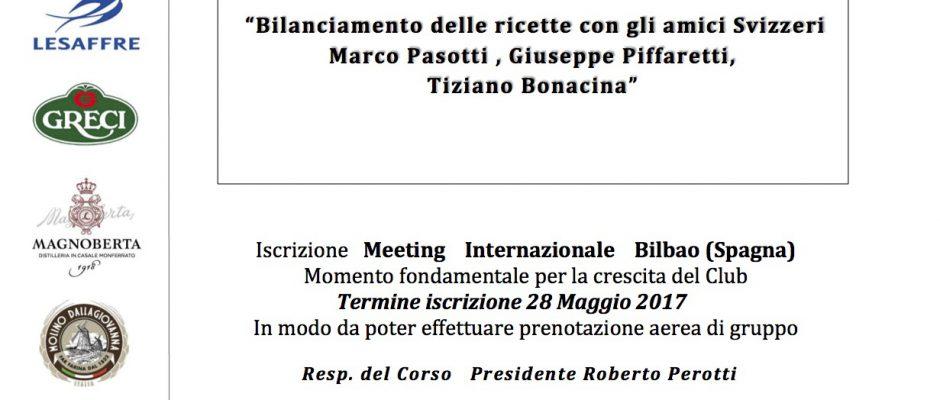 Bilanciamento delle ricette con gli amici Svizzeri Marco Pasotti , Giuseppe Piffaretti, Tiziano Bonacina