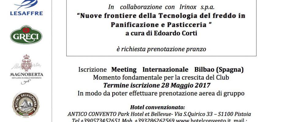 """""""Nuove Frontiere della Tecnologia del freddo in panificazione e pasticceria"""" - Evento del 14 Maggio 2017"""
